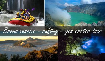 mount bromo rafting ijen crater tour package 3 days