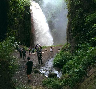Blawan Waterfall from ijen crater in Bondowoso