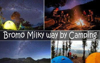 mt bromo milkyway by camping