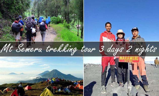 mt semeru trekking tour package 3 days 2 nights
