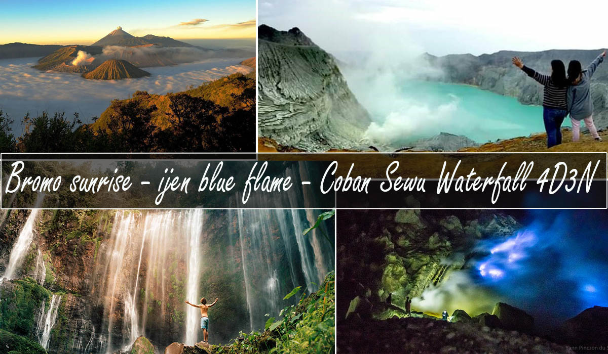 mount bromo ijen tumpak sewu waterfall tour 4 days