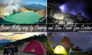 mt bromo milkyway by camping and blue flame ijen crater tour
